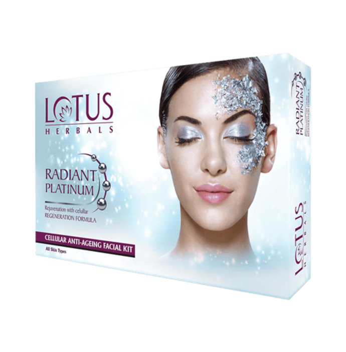 Lotus Herbals Radiant Platinum Cellular Anti-Ageing 4 in 1 Facial Kit