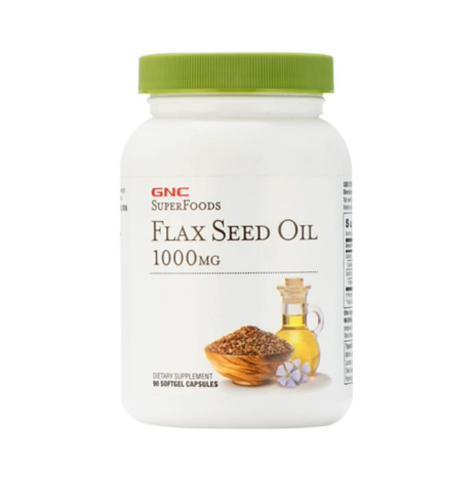 GNC SuperFoods Flax Seed Oil Softgel
