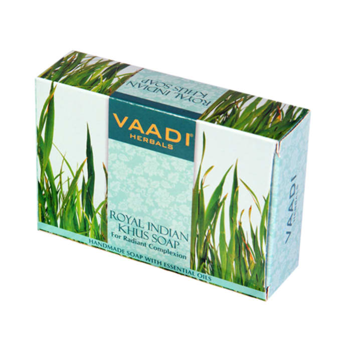 Vaadi Herbals Value Pack of Royal Indian Khus Soap with Olive & Soyabean Oil (75gm Each)