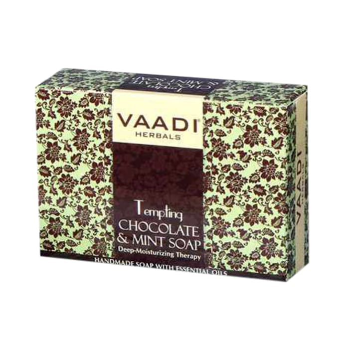 Vaadi Herbals Super Value Pack of 6 Tempting Chocolate & Mint Soap-Deep Moisturising Therapy (75gm Each)