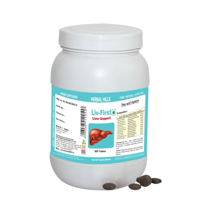 Herbal Hills Value Pack of Liv First Tablet