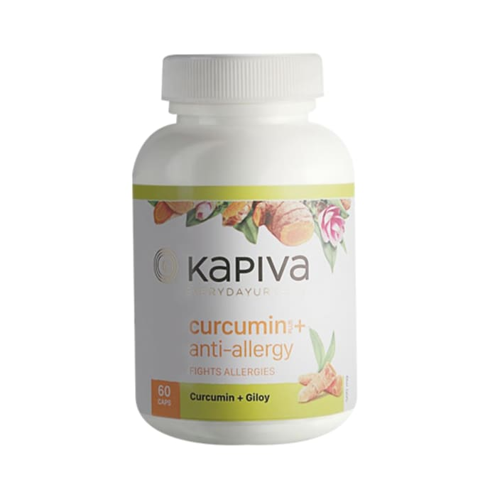 Kapiva Ayurveda Curcumin Plus Anti-Allergy Capsule