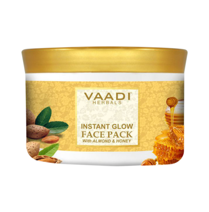 Vaadi Herbals Instant Glow Face Pack with Almond and Honey