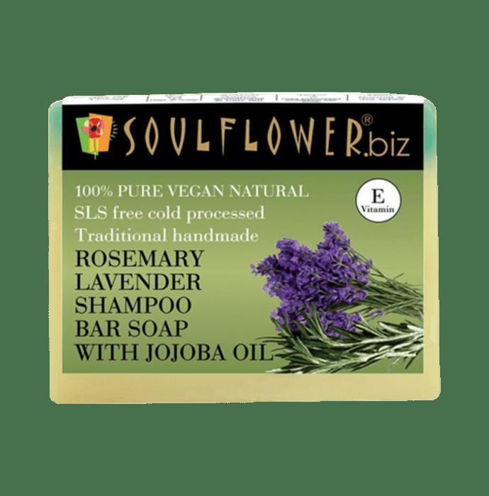 Soulflower Rosemary Lavender Shampoo Bar Soap with Jojoba Oil