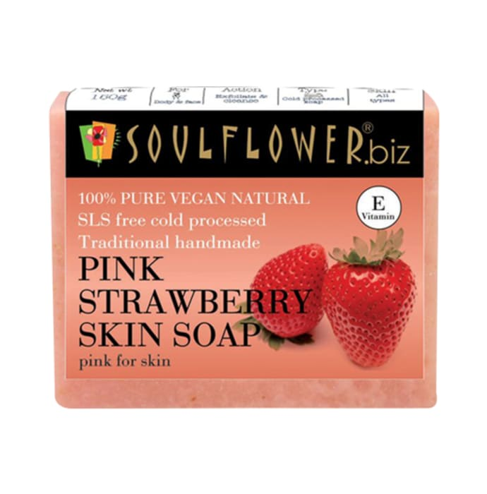 Soulflower Pink Strawberry Skin Soap
