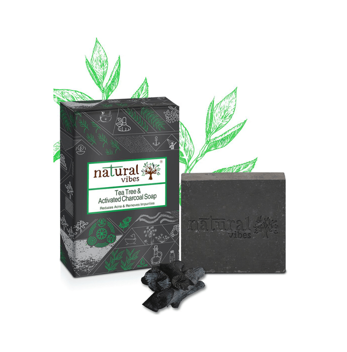 Natural Vibes Tea Tree and Activated Charcoal Soap