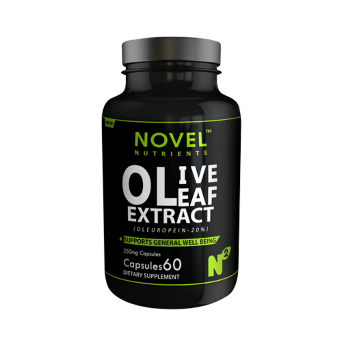 Novel Nutrients Olive Leaf Extract (Oleuropein-20%) 250mg Capsule