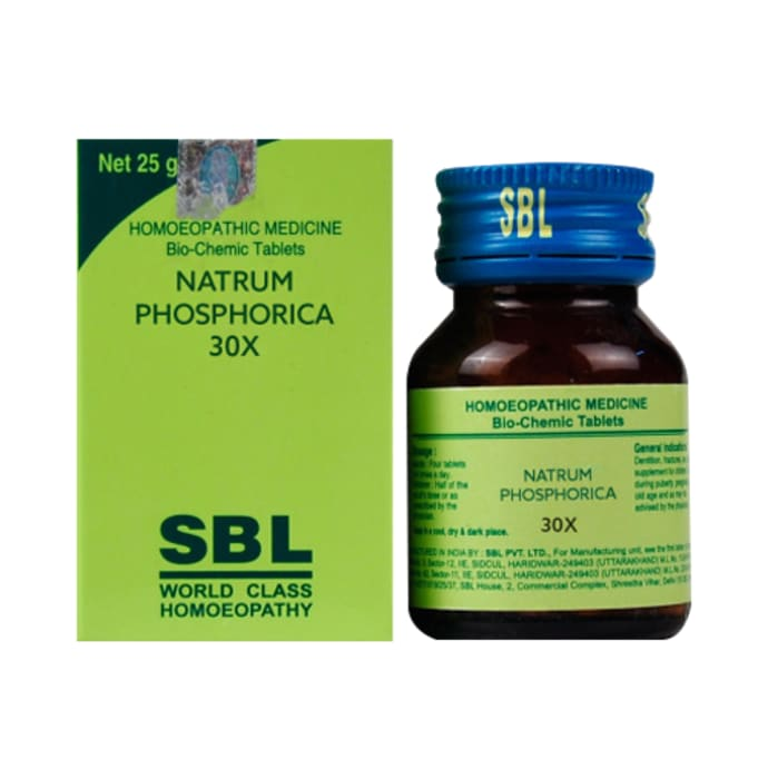 SBL Natrum Phosphorica Biochemic Tablet 30X