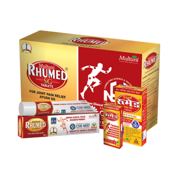 Multani Rhumed SG Kit (Rhumed SG 540 Tablets, Rhumed Strong Oil 90ml & Rhumed SG Ointment 90gm)