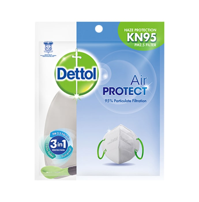 Dettol Air Protect Disposable Mask for Adults with KN95
