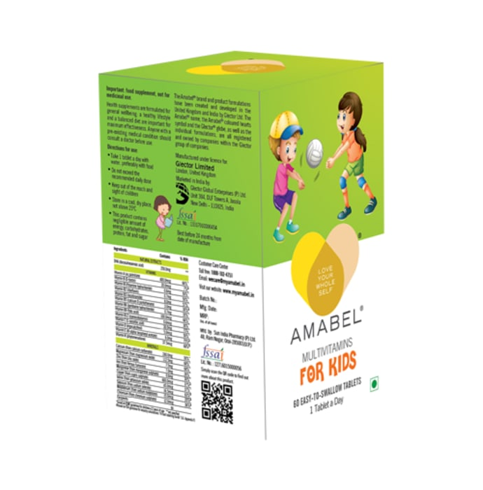 Amabel Multivitamins & Minerals For Kids Tablet