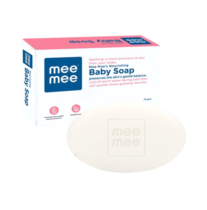 Mee Mee Nourishing Baby Soap with Almond & Milk Extracts Pack of 3