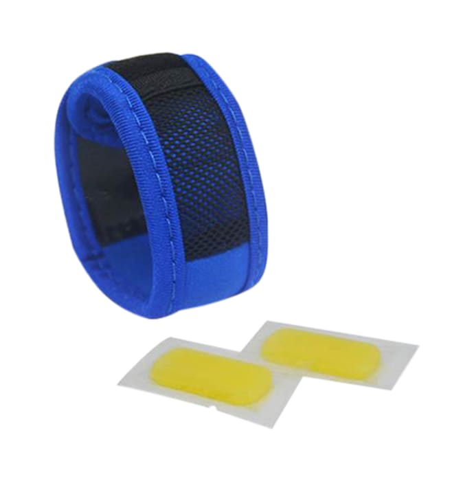 Safe-O-Kid Blue Anti-Mosquito Band with 2 Refills and Free 6 Anti Mosquito Patches / Stickers