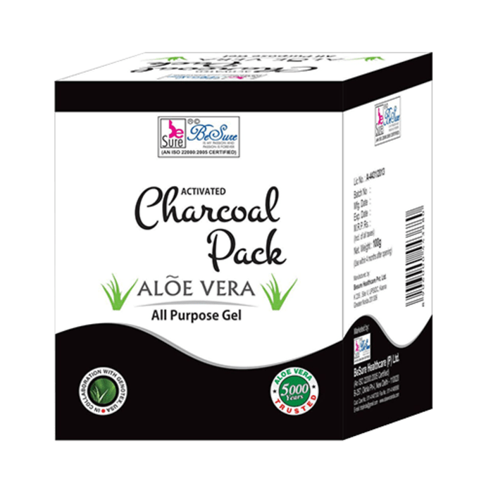 BeSure Aloe Vera Activated Charcoal Face Pack