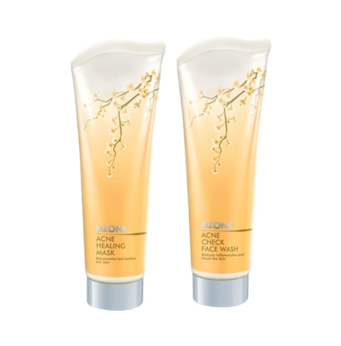 Ozone Combo of Acne Check Face Wash and Acne Healing Mask