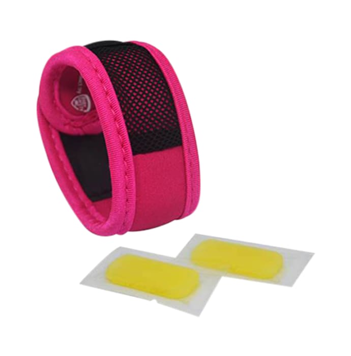 Safe-O-Kid Pink Anti-Mosquito Band with 2 Refills and Free 6 Anti Mosquito Patches / Stickers