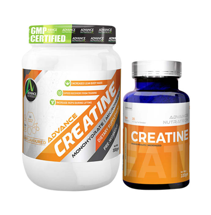 Advance Nutratech Combo of Creatine Monohydrate Unflavored 300gm and Creatine Monohydrate Unflavored 100gm