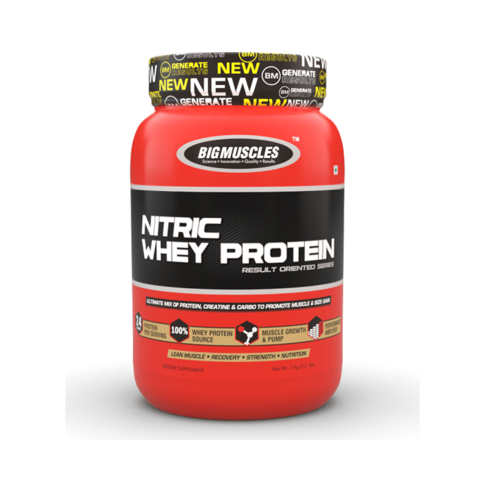 Big  Muscles Nitric Whey Strawberry