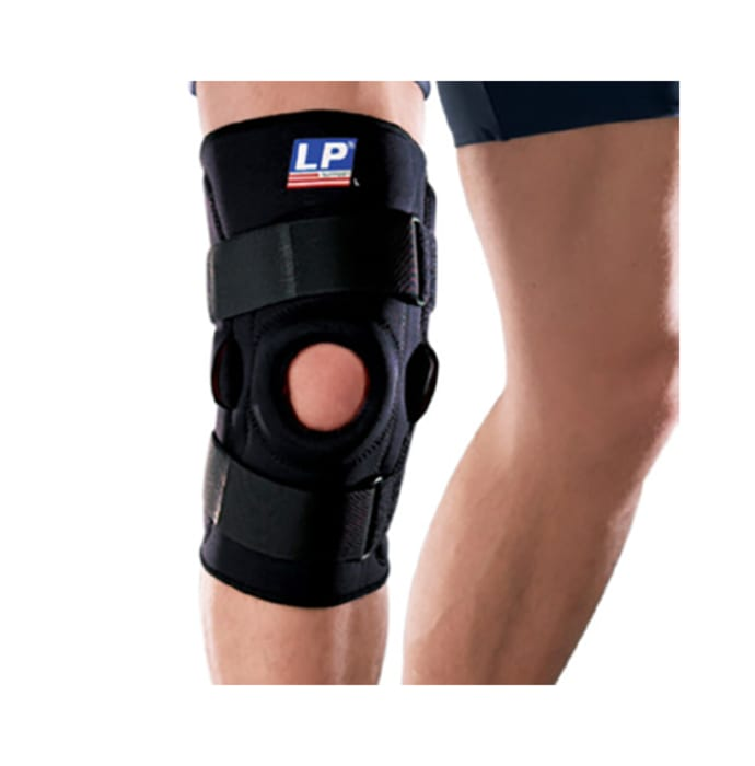 LP 710 Hinged Knee Support Single XL Black