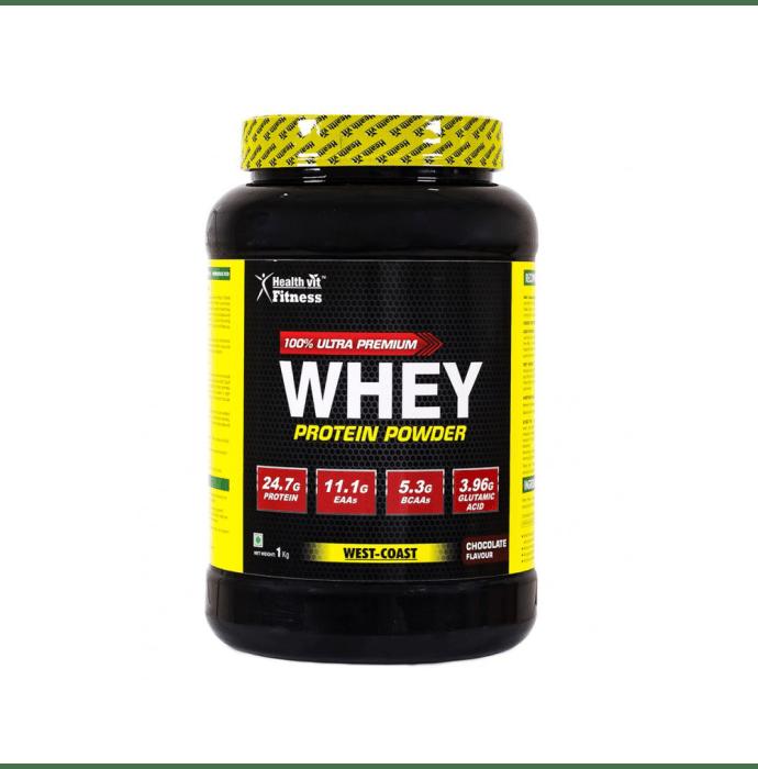 HealthVit 100% Ultra Premium Whey Protein Powder Chocolate