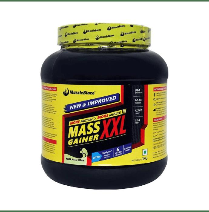 MuscleBlaze Mass Gainer XXL Kesar Pista Badam