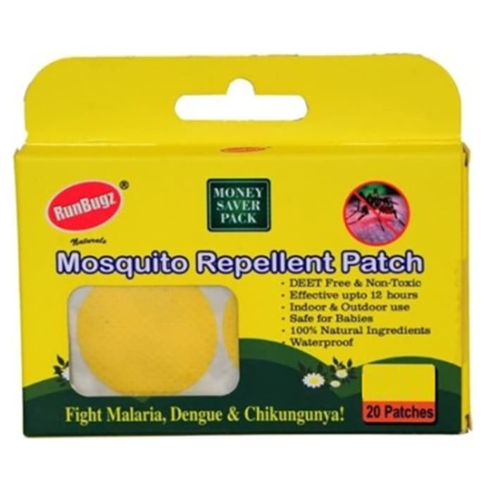 Runbugz Mosquito Repellent Patch Yellow