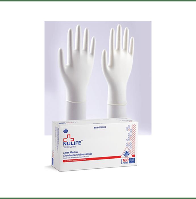 Nulife Latex Medical Examination Powdered Gloves M