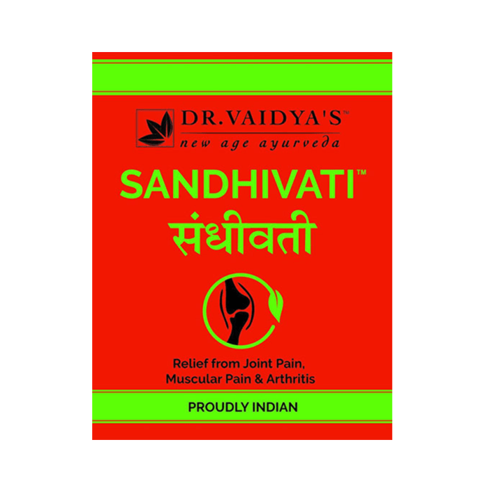 Dr. Vaidya's Sandhivati Pills - Ayurvedic Tablet for Arthritis, Joint & Muscle Pain Pack of 4