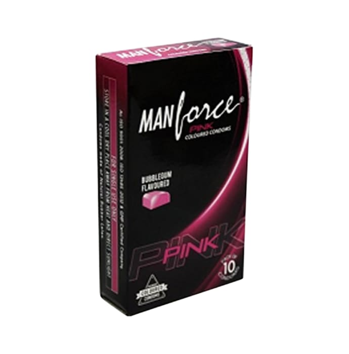 Manforce Pink Condom Bubblegum Pack of 2