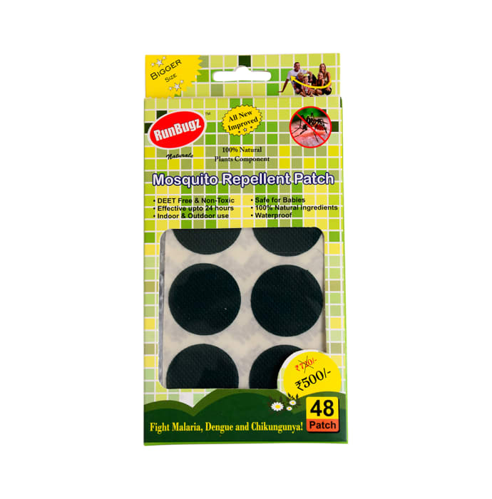 Runbugz Mosquito Repellent Patch Green