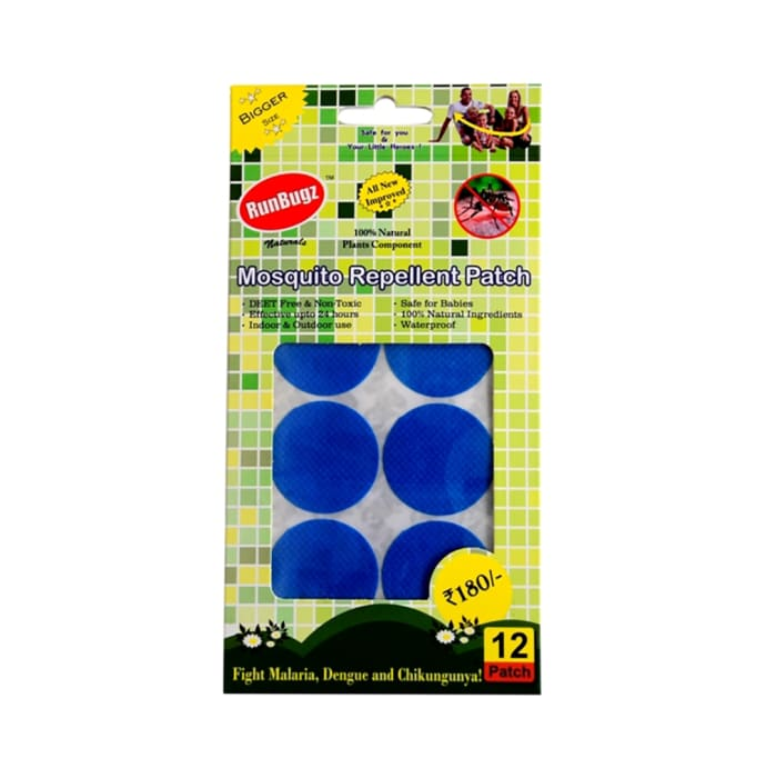Runbugz Mosquito Repellent Patch Blue