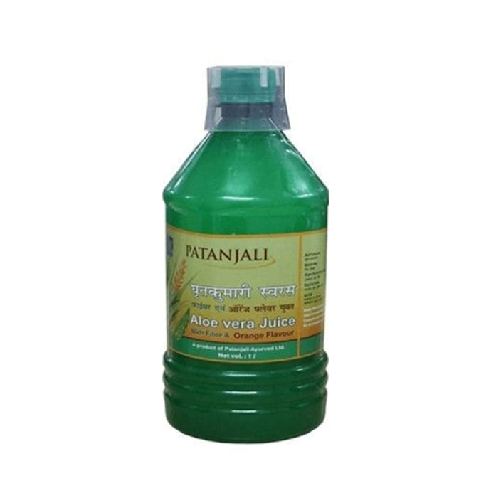 Patanjali Ayurveda Aloe Vera Juice with Fiber Orange