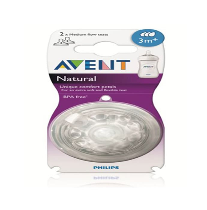 Philips Avent Natural Teat Twin Pack White