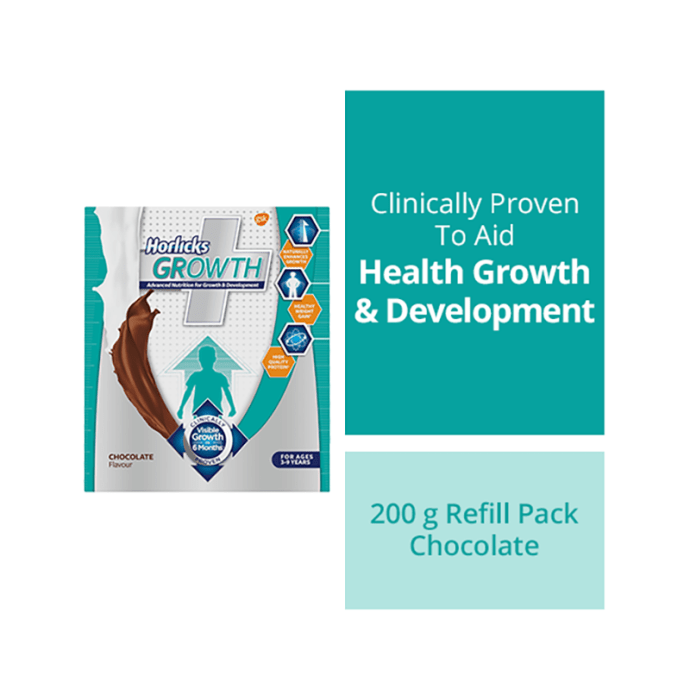 Horlicks Growth Plus Powder Refill Pack Chocolate