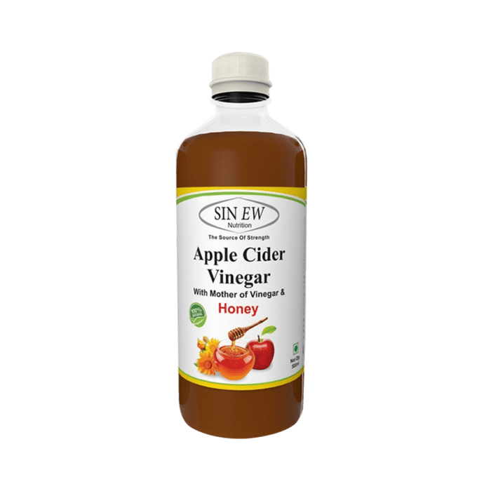 Sinew Nutrition Apple Cider Vinegar With Honey and Mother of Vinegar Pack of 3