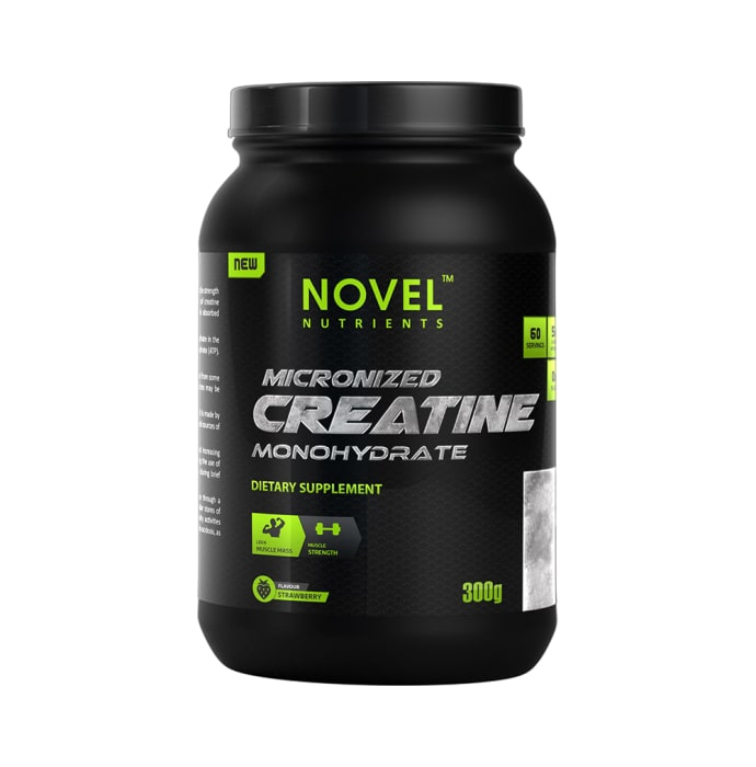 Novel Nutrients Micronized Creatine Monohydrate Powder Strawberry