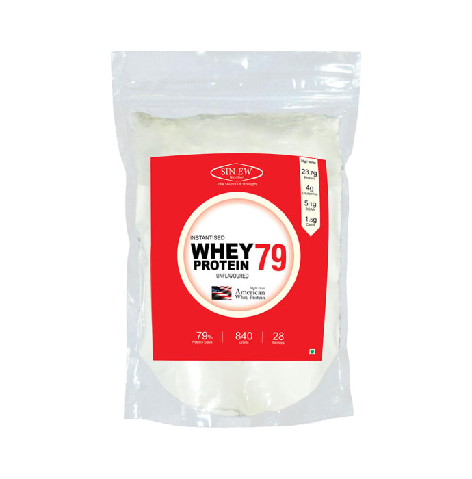 Sinew Nutrition 79% Instantised Raw Whey Protein Powder Unflavoured