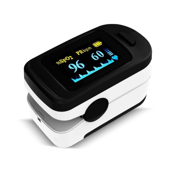 Perfecxa FS20C Pulse Oximeter Fingertip with Carrying Pouch Black