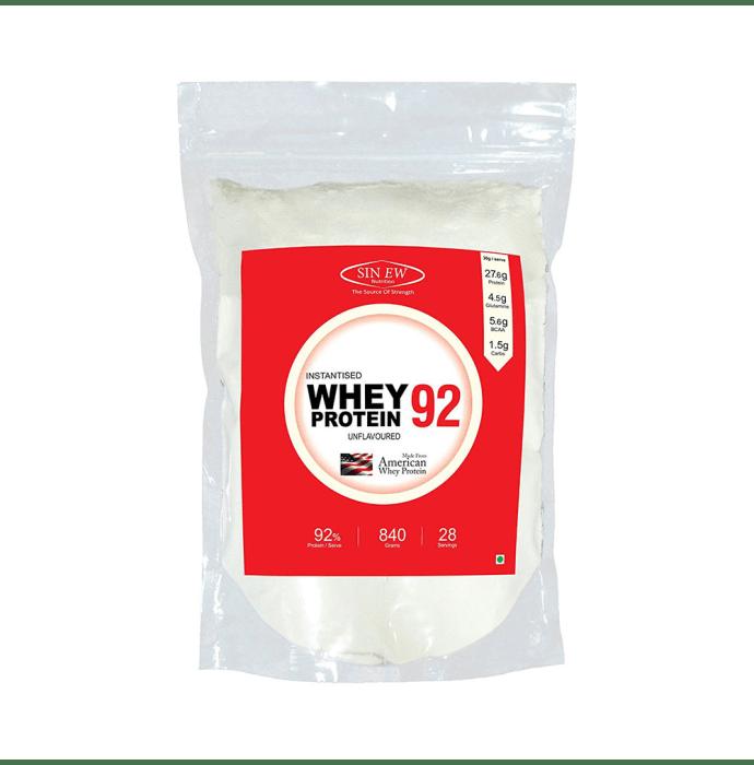 Sinew Nutrition 92% Instantised Whey Protein Powder Unflavoured