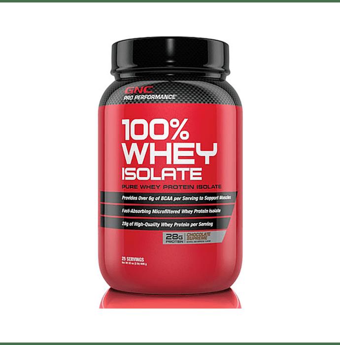 GNC Pro Performance 100% Whey Isolate Powder Chocolate