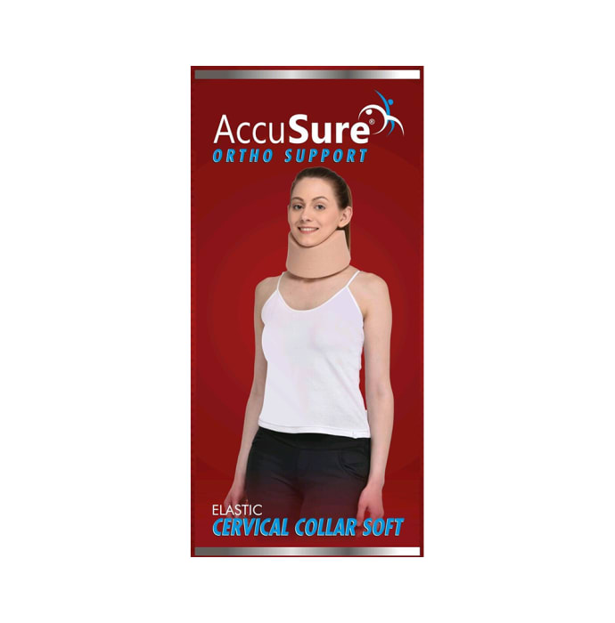 AccuSure C1 Elastic Cervical Collar Soft M