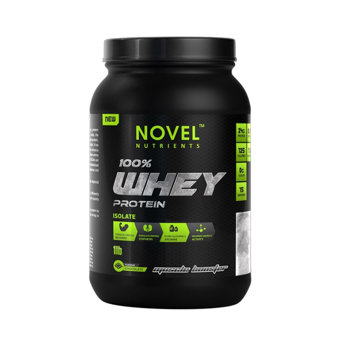 Novel Nutrients 100% Whey Protein Isolate Chocolate