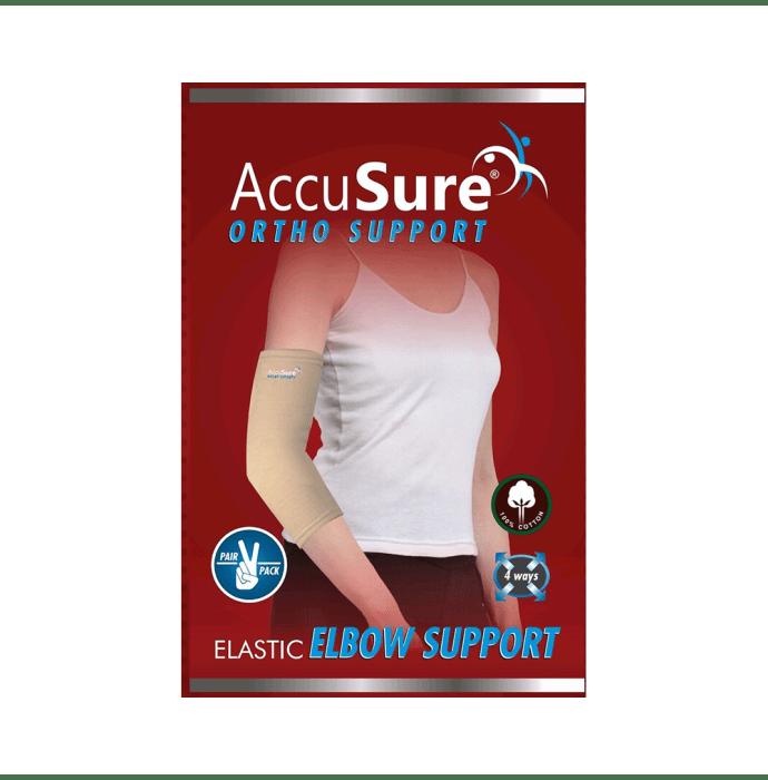 AccuSure E-8 Elastic Elbow Support Pair L