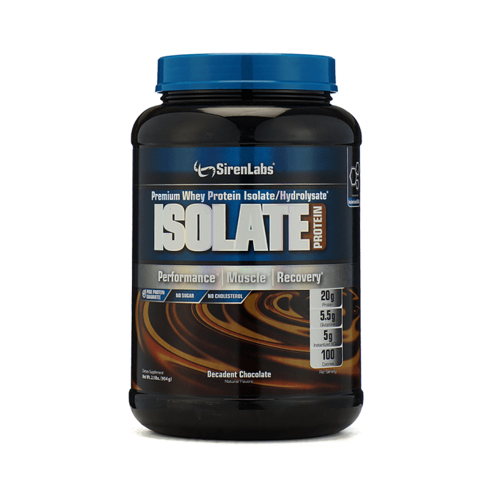 GNC SirenLabs Isolate Protein Powder Decadent Chocolate