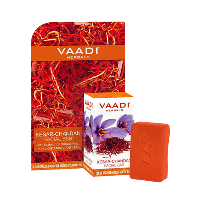 Vaadi Herbals Value Pack of Kesar Chandan Facial Bars with Extract of Orange Peel
