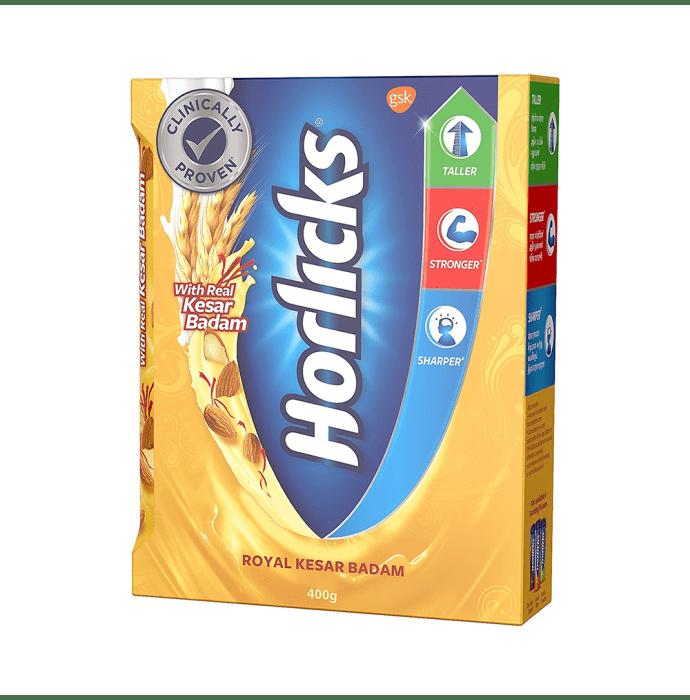 Horlicks Health and Nutrition Drink Refill Pack Royal Kesar Badam