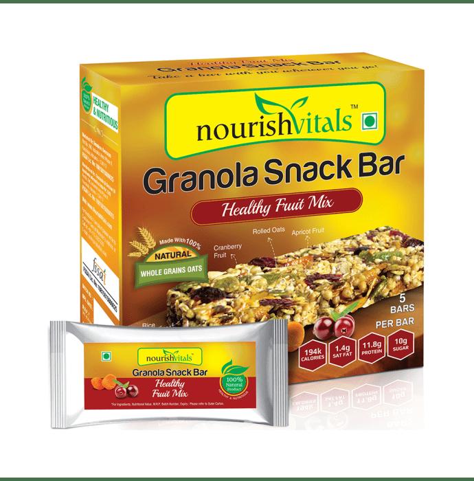 NourishVitals Granola Snack Bar with Healthy Fruit Mix
