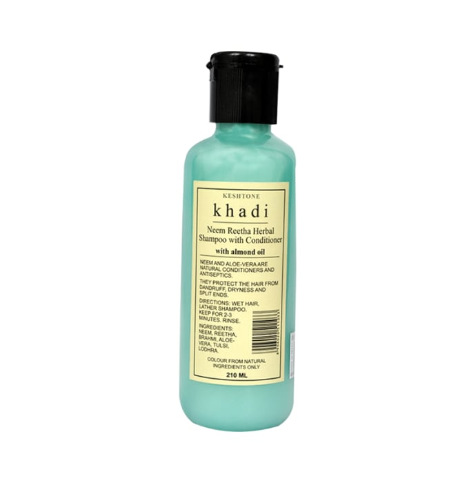 Khadi Naturals Herbal Neem Reetha Shampoo with Conditioner with Almond Oil Pack of 2