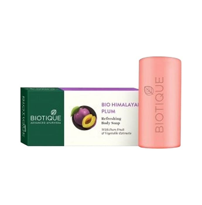 Biotique Himalayan Plum Body Cleanser Soap Pack of 2