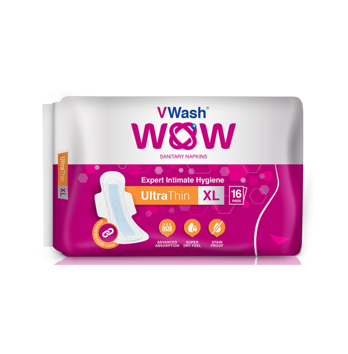 VWash WOW Sanitary Napkin Ultra Thin XL